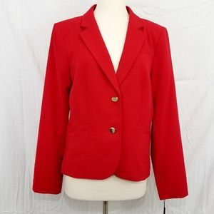 NWT CALVIN KLEIN 2-Button Red Blazer sz 14